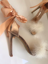 SAMPLE Elsina Rose Gold Heels