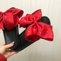 Minnie Rouge Bow Sliders