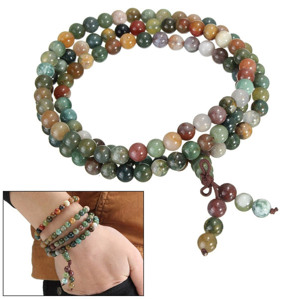 Buddhist India Agate Prayer Jade Beads