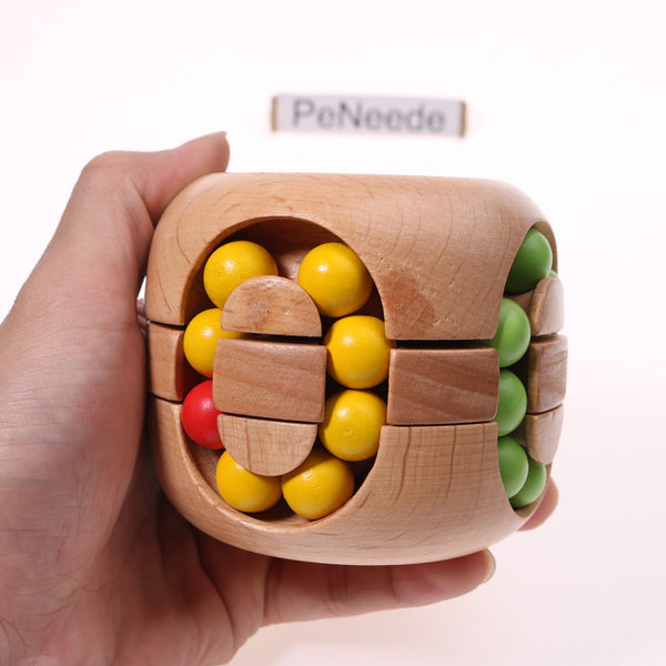 Wooden Rotating Beads Fidget Fiddle Sensory Toy For Autism/ADHD/Anxiety