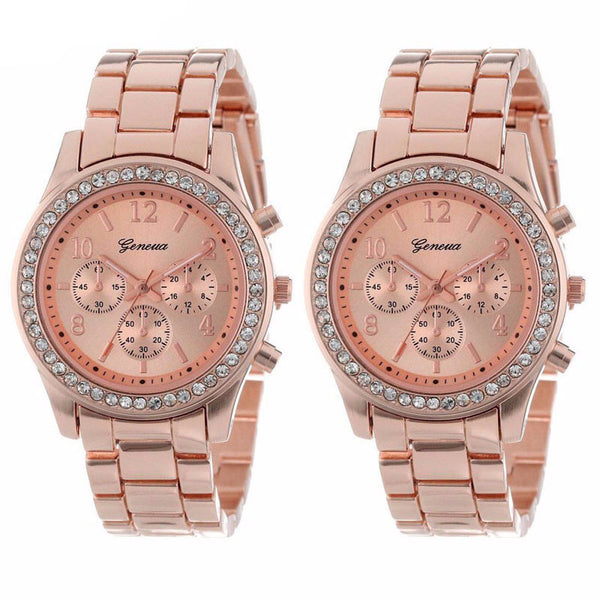 2 PACK Rose Gold Women's Watches