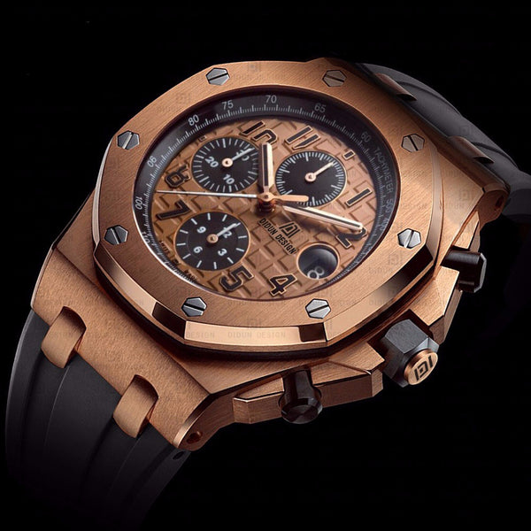 Rose Gold Mens Sport Watch