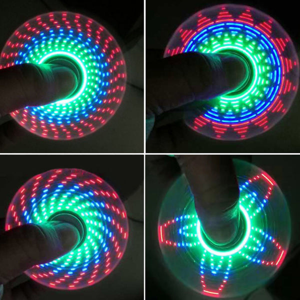 LED Light Rainbow Flashing Hand Spinner