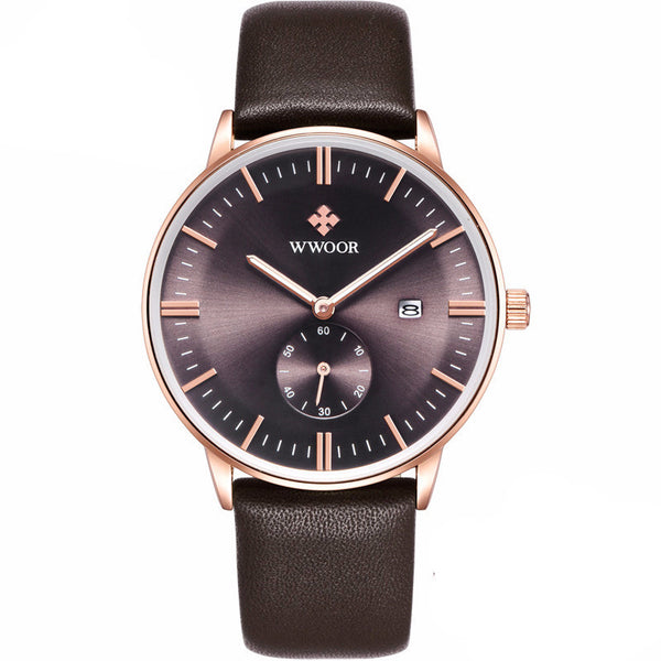 Rose Gold Casual Sports Watch for Men