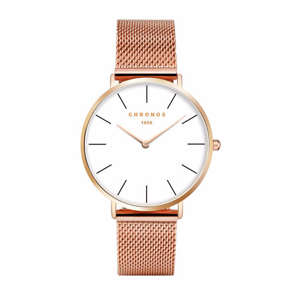 Luxury Rose Gold Casual Quartz Watch