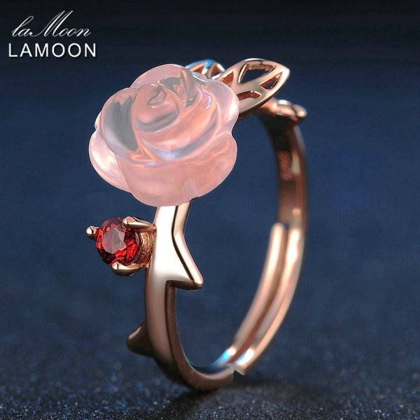 Rose Gold Rose Flower Ring