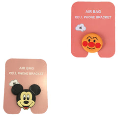 Motivatebox ,Smiling red Face,Cartoon micky mouse designed 2 cartooon grip holders for phones/tablets (Expandable phone stands)