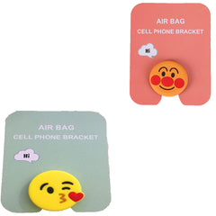Motivatebox ,Smiling red Face,Kiss smiley emoticon designed 2 cartooon grip holders for phones/tablets (Expandable phone stands)