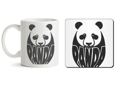 1 mug and 1 coaster with design as: White Panda  design,   330 ml mug and 4 inches coaster