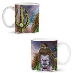 Set of 2 printed white coffee mugs with designs like: Set-of-2-printed-white-coffee-mugs-with-designs-like:-Shiva-Anger---|-11-ounce-mugs | 11 ounce mugs