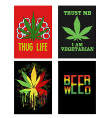 Set of 4 posters with designs like Thug life  Decorate your walls, wardrobes with these 12 inches * 18 inches posters