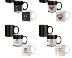 Smilie like The Rock design 330 ml black magic mugs| Design appears when hot water is poured.