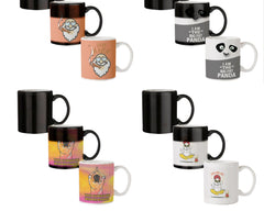 Stay high  design,   330 ml black magic mugs| Design appears when hot water is poured.