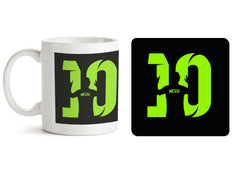 1 mug and 1 coaster with design as: Lionel Messi 10 Victory  design,   330 ml mug and 4 inches coaster