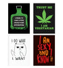 Set of 4 posters with designs like I drink to make other people more interesting  design,  Decorate your walls, wardrobes with these 12 inches * 18 inches posters