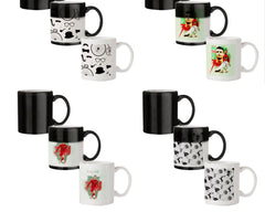 Retro theme for classic men  330 ml black magic mugs| Design appears when hot water is poured.
