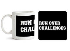 1 mug and 1 coaster with design as: Day motivation design  330 ml mug and 4 inches coaster