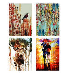 Set of 4 posters with designs like Bird paintingDecorate your walls, wardrobes with these 12 inches * 18 inches posters