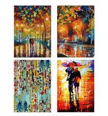 Set of 4 posters with designs like Colourful paintingDecorate your walls, wardrobes with these 12 inches * 18 inches posters
