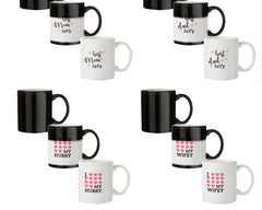 Best Mom Ever Design 330 ml black magic mugs| Design appears when hot water is poured.