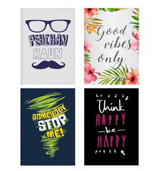 Set of 4 posters with designs like Pehchan kaun?  design,  Decorate your walls, wardrobes with these 12 inches * 18 inches posters