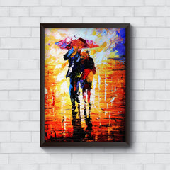 Couple canvas painting design   Wall Frames