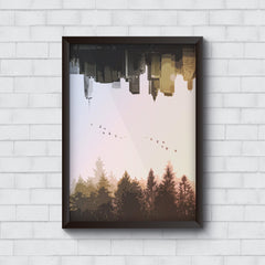 City forest upside down   Wall Frames