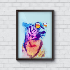 Tiger wearing goggles design   Wall Frames