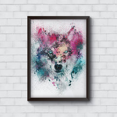 Splashed colours Wolf Design   Wall Frames