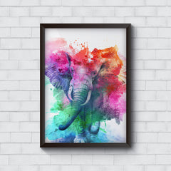 colourful portrait of Elephant   Wall Frames