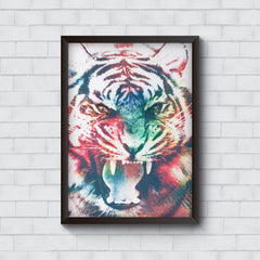 Tiger with a ferocious look   Wall Frames