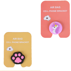Motivatebox ,Girl unicorn,Pink Paw designed 2 cartooon grip holders for phones/tablets (Expandable phone stands)