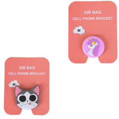 Motivatebox ,Girl unicorn,Funny pink cat winkey  designed 2 cartooon grip holders for phones/tablets (Expandable phone stands)