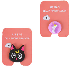 Motivatebox ,Girl unicorn,Black Cat  designed 2 cartooon grip holders for phones/tablets (Expandable phone stands)