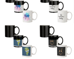 Be yourself design  330 ml black magic mugs| Design appears when hot water is poured.