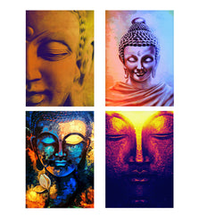 Set of 4 posters with designs like Peaceful Serene Lord Buddha Decorate your walls, wardrobes with these 12 inches * 18 inches posters