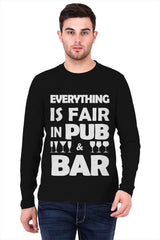 Bar quote design   printed full sleeve t-shirt