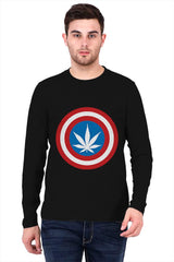 Captain Weed America   printed full sleeve t-shirt