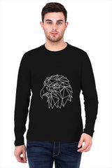 Lines Eagle Design   printed full sleeve t-shirt