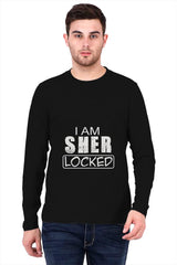 I am SHER LOCKED   printed full sleeve t-shirt