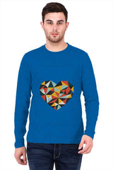 Colorful Heart with Graphic Design   printed full sleeve t-shirt