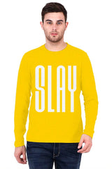 SLAY quote design   printed full sleeve t-shirt