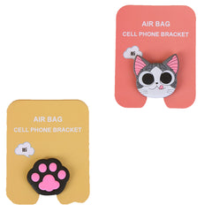 Motivatebox ,Pink Paw,Funny pink cat winkey  designed 2 cartooon grip holders for phones/tablets (Expandable phone stands)