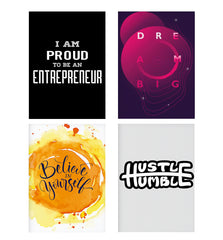 Set of 4 posters with designs like I am proud to be an entrepreneur  design,  Decorate your walls, wardrobes with these 12 inches * 18 inches posters
