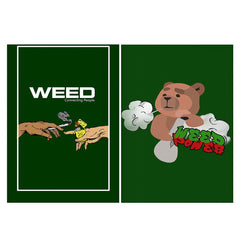 Set of 2 posters with designs like Weed connecting people   Matte Laminated 12 inches*18 inches posters