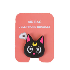Motivatebox , Black Cat  cute pop stands for phones and tablets(Expandable grip holder)