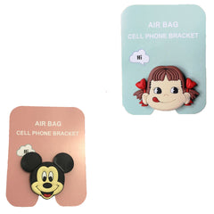Motivatebox ,Girl lip smacking ,Cartoon micky mouse designed 2 cartooon grip holders for phones/tablets (Expandable phone stands)