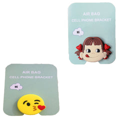 Motivatebox ,Girl lip smacking ,Kiss smiley emoticon designed 2 cartooon grip holders for phones/tablets (Expandable phone stands)
