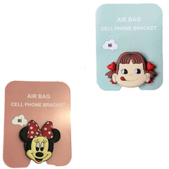 Motivatebox ,Girl lip smacking ,Cartoon minny mouse designed 2 cartooon grip holders for phones/tablets (Expandable phone stands)