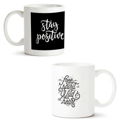 Set of 2 printed white coffee mugs with designs like: Set-of-2-printed-white-coffee-mugs-with-designs-like:-Positive-motivation-design--|-11-ounce-mugs | 11 ounce mugs
